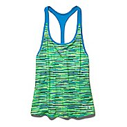 Womens Under Armour Alpha Mesh Printed Loose Tank Technical Tops - White/Hyper Green S