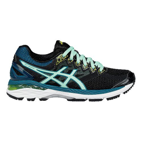 Womens ASICS GT-2000 4 Running Shoe - Black/Pool 6.5