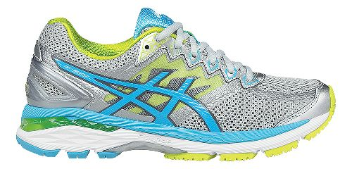 Womens ASICS GT-2000 4 Running Shoe - Silver/Turquoise 8.5