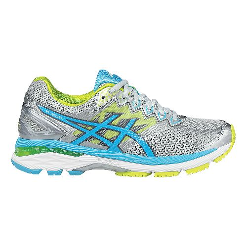 Womens ASICS GT-2000 4 Running Shoe - Silver/Turquoise 11.5