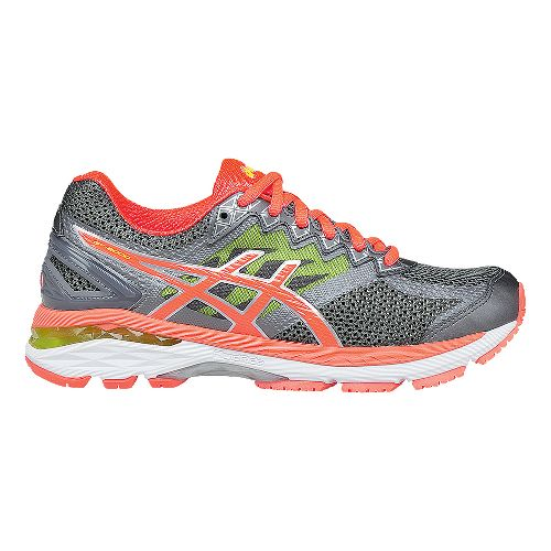Womens ASICS GT-2000 4 Running Shoe - Charcoal/Coral 6
