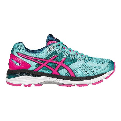 Womens ASICS GT-2000 4 Running Shoe - Turquoise/Hot Pink 5