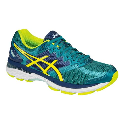 Womens ASICS GT-2000 4 Running Shoe - Green/Safety Yellow 7.5