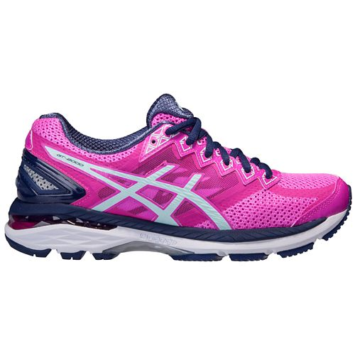 Womens ASICS GT-2000 4 Running Shoe - Pink/Navy 6.5