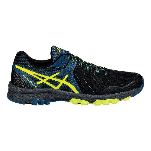 Mens ASICS GEL-FujiAttack 5 Trail Running Shoe - Black/Flash Yellow 10