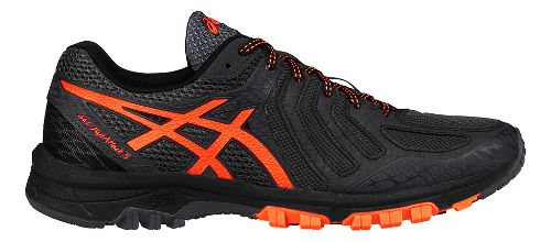 Mens ASICS GEL-FujiAttack 5 Trail Running Shoe - Grey/Orange 12