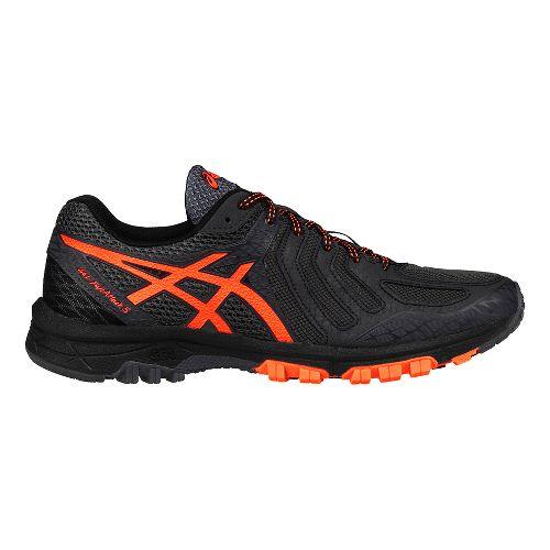 Mens ASICS GEL-FujiAttack 5 Trail Running Shoe - Grey/Orange 12.5