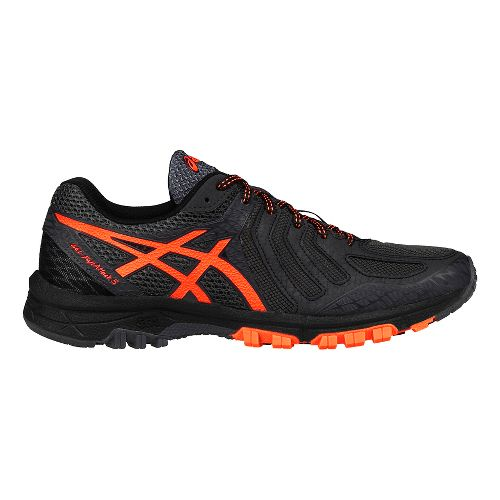 Mens ASICS GEL-FujiAttack 5 Trail Running Shoe - Grey/Orange 7