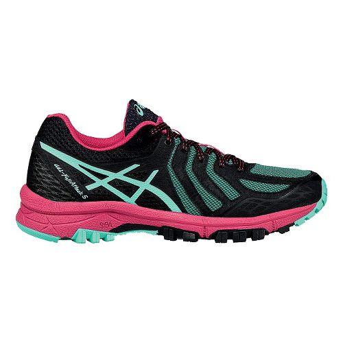 Womens ASICS GEL-FujiAttack 5 Trail Running Shoe - Black/Azalea 8.5