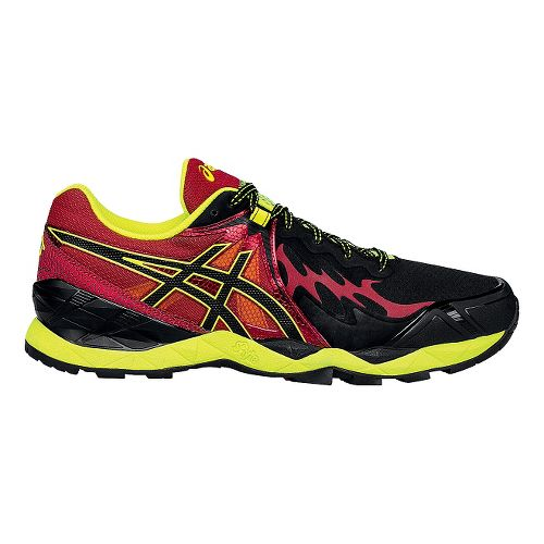 Mens ASICS GEL-FujiEndurance Trail Running Shoe - Black/Red 10