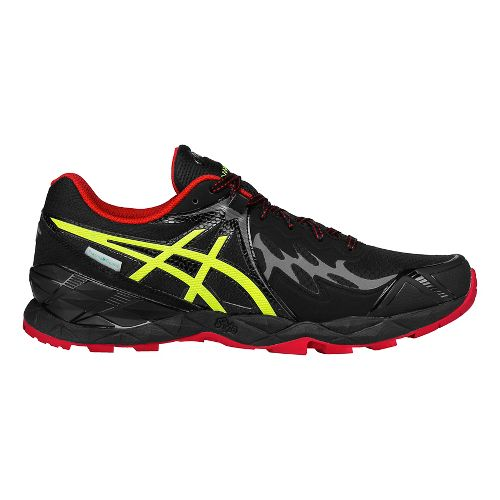 Mens ASICS GEL-FujiEndurance Trail Running Shoe - Black/Yellow 14