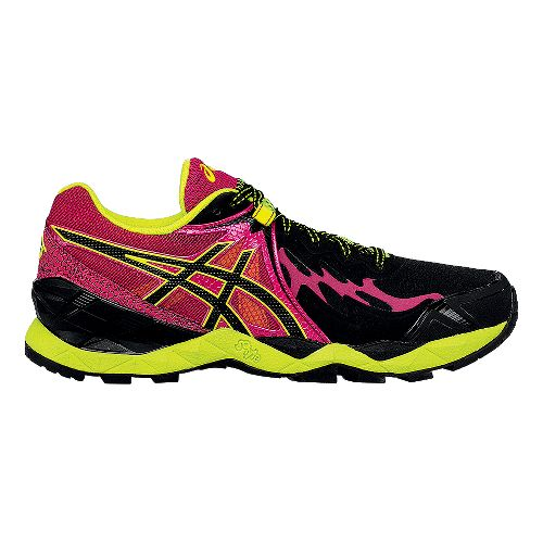 Womens ASICS GEL-FujiEndurance Trail Running Shoe - Black/Azalea 7.5
