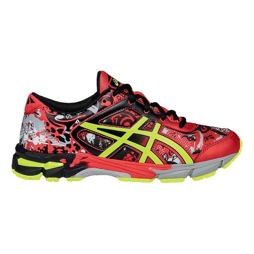 Kids ASICS GEL-Noosa Tri 11 Running Shoe - Black/Orange 7Y