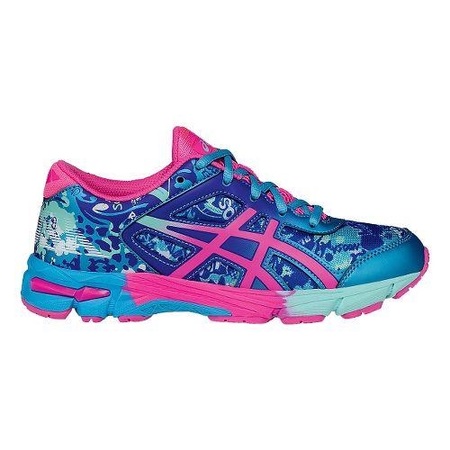 Kids ASICS GEL-Noosa Tri 11 Running Shoe - Turquoise/Hot Pink 6Y