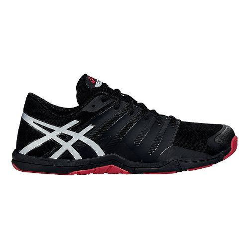 Mens ASICS Met-Conviction Cross Training Shoe - Black/Red 10.5