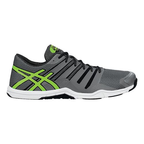 Mens ASICS Met-Conviction Cross Training Shoe - Titanium/Green 10.5