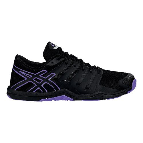 Womens ASICS Met-Conviction Cross Training Shoe - Black/Iris 10.5