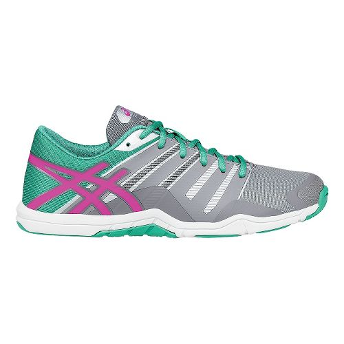 Womens ASICS Met-Conviction Cross Training Shoe - Grey/Pink 8.5