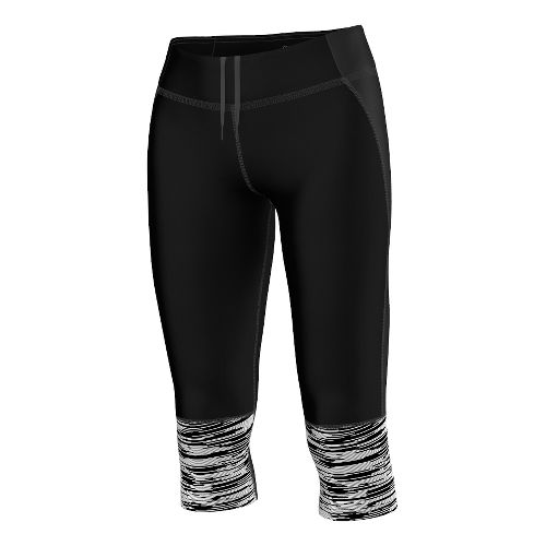 Womens adidas Supernova Three-Quarter Reflective Graphic Capri Tights - Black XS