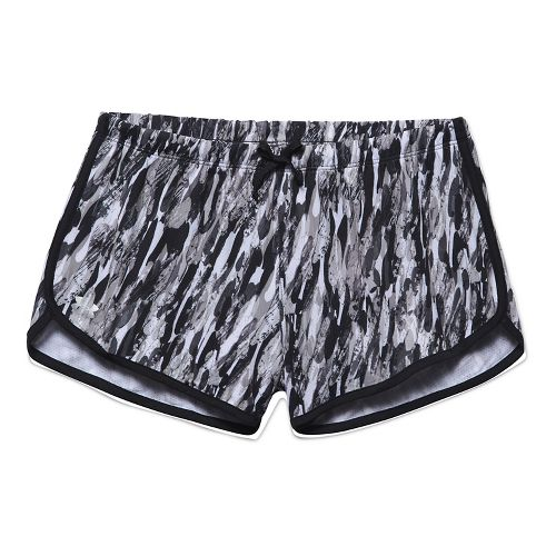Womens Under Armour Alpha Mesh Printed Unlined Shorts - White/Aluminum M