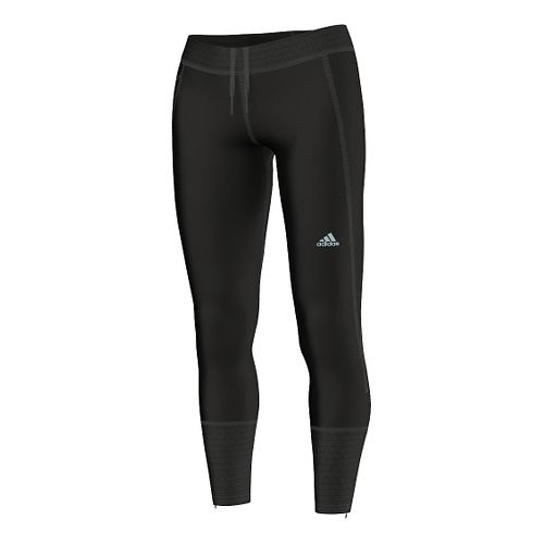 Womens adidas Climaheat Brushed Long Full Length Tights - Black M