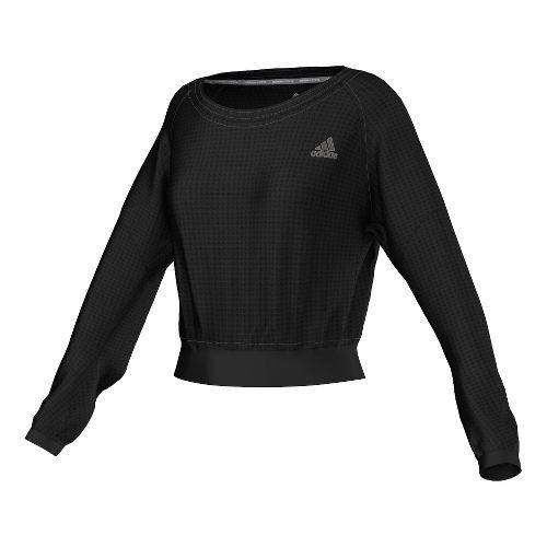Womens adidas Sequencials Cozy Pullover Long Sleeve No Zip Technical Tops - Black L