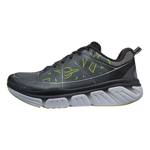 Mens Hoka One One Infinite Running Shoe - Grey/Citrus 9