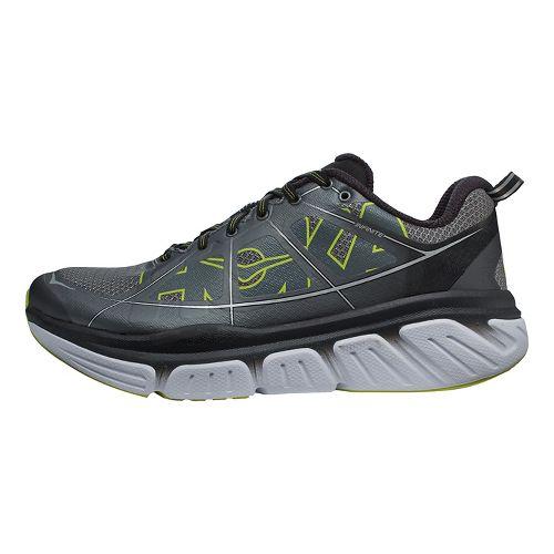 Mens Hoka One One Infinite Running Shoe - Grey/Citrus 9.5