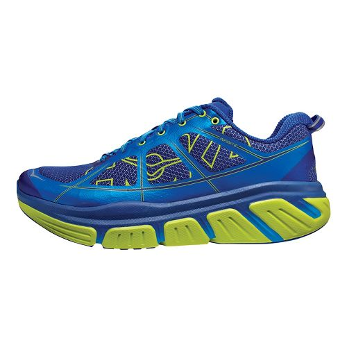 Mens Hoka One One Infinite Running Shoe - Blue/Acid 8