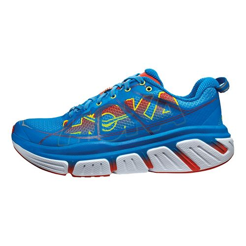 Womens Hoka One One Infinite Running Shoe - Blue/Red 10.5