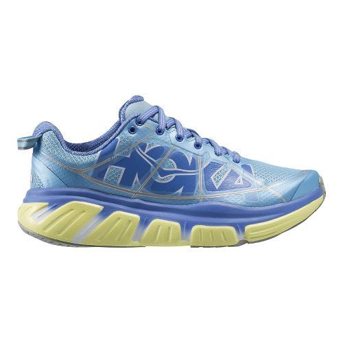 Womens Hoka One One Infinite Running Shoe - Blue/Lime 7.5