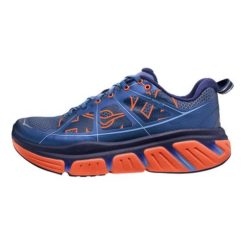 Womens Hoka One One Infinite Running Shoe - Navy/Coral 9.5