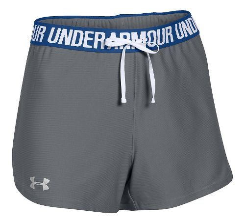 Womens Under Armour Play Up Unlined Shorts - Grey/Cobalt XL