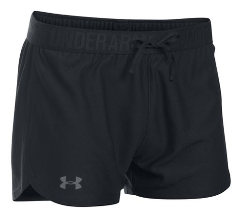 Womens Under Armour Play Up Unlined Shorts - Black XS