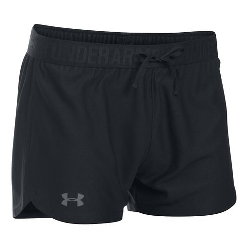Womens Under Armour Play Up Unlined Shorts - Black/Black S