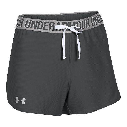 Womens Under Armour Play Up Unlined Shorts - Grey/Moon Mist XL