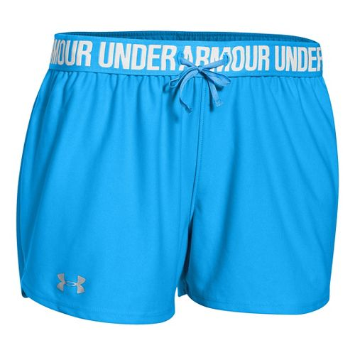 Womens Under Armour Play Up Unlined Shorts - Jazz Blue/Silver J M