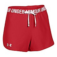 Womens Under Armour Play Up Unlined Shorts - Red XL