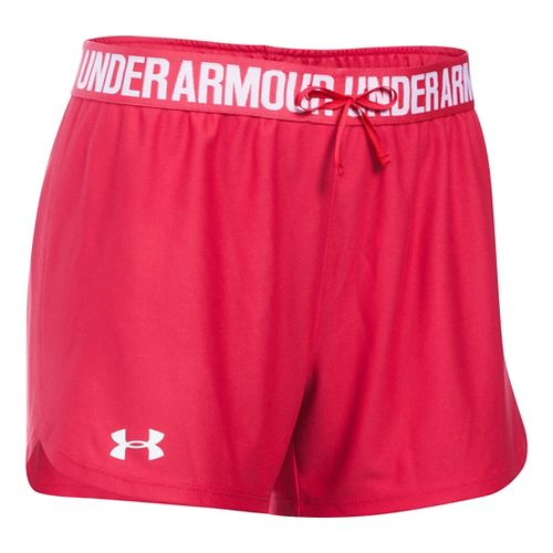 Womens Under Armour Play Up Unlined Shorts - Knock Out XS
