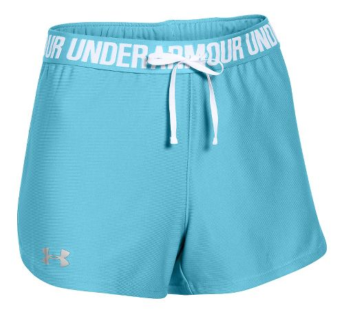 Womens Under Armour Play Up Unlined Shorts - Sky Blue L