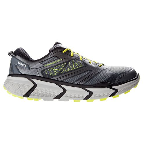 Mens Hoka One One Challenger ATR 2 Trail Running Shoe - Grey/Citrus 9
