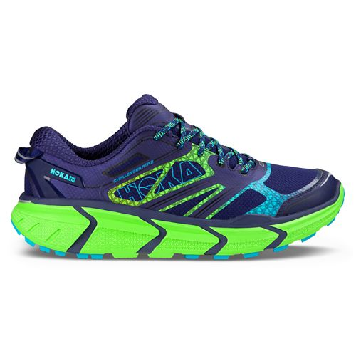Mens Hoka One One Challenger ATR 2 Trail Running Shoe - Aura/Neon Green 10