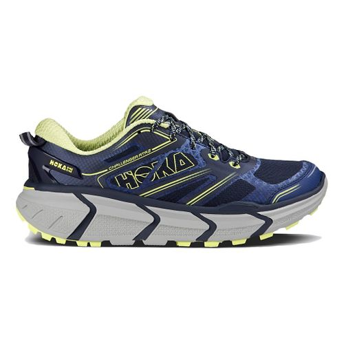 Womens Hoka One One Challenger ATR 2 Trail Running Shoe - Navy/Sunny Lime 10.5