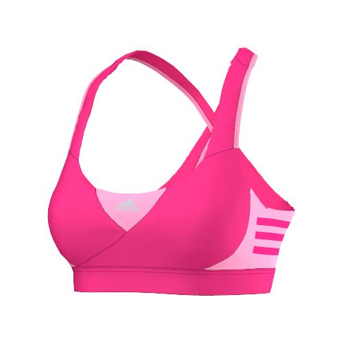 Womens adidas Go-To-Gear Supernova Sports Bras - Shock Pink S