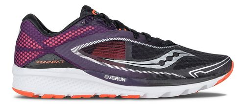 Mens Saucony Kinvara 7 Running Shoe - Black/Purple/Orange 8.5