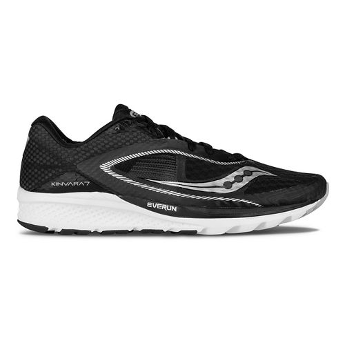 Mens Saucony Kinvara 7 Running Shoe - Black/White 9