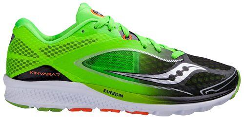Mens Saucony Kinvara 7 Running Shoe - Slime/Black 8