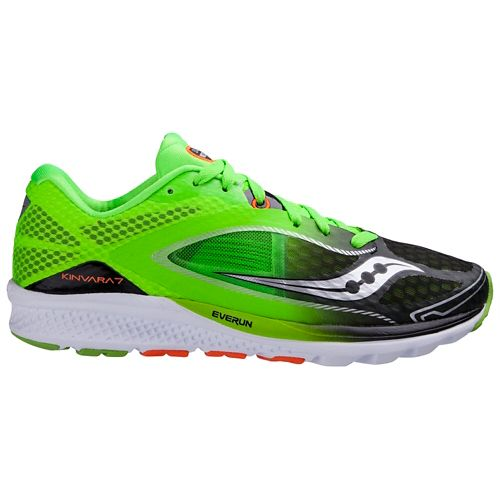 Mens Saucony Kinvara 7 Running Shoe - Slime/Black 10.5