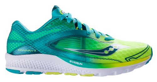 Womens Saucony Kinvara 7 Running Shoe - Teal/Citron 6.5