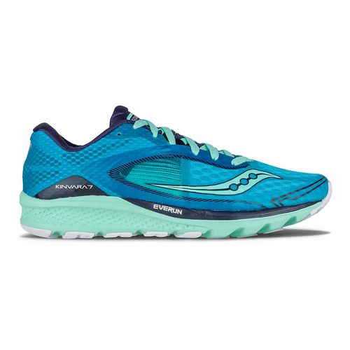 Womens Saucony Kinvara 7 Running Shoe - Teal/Navy/Silver 10